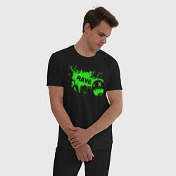 Пижама хлопковая мужская Rave цвета черный — фото 2