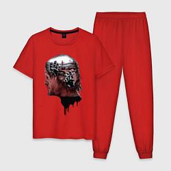 Пижама хлопковая мужская DEATH STRANDING цвета красный — фото 1