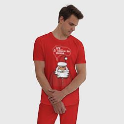 Пижама хлопковая мужская Ну… в общем вы поняли… цвета красный — фото 2