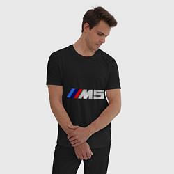 Пижама хлопковая мужская BMW M5 цвета черный — фото 2