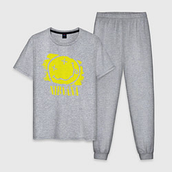 Пижама хлопковая мужская Nirvana Smile цвета меланж — фото 1