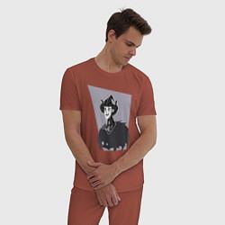 Пижама хлопковая мужская Dont Starve цвета кирпичный — фото 2