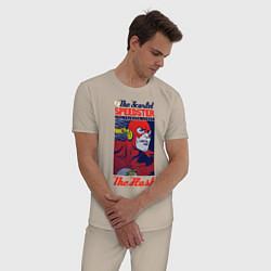 Пижама хлопковая мужская The Flash цвета миндальный — фото 2