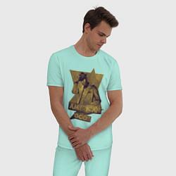 Пижама хлопковая мужская Ананси Американские Боги цвета мятный — фото 2