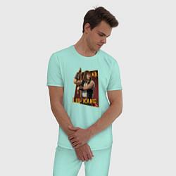 Пижама хлопковая мужская Lui Kang цвета мятный — фото 2