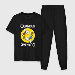 Пижама хлопковая мужская СapheadMugman цвета черный — фото 1