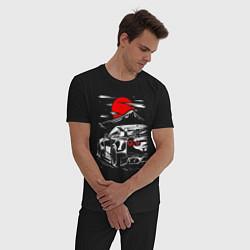 Пижама хлопковая мужская NUSSAN GT-R НИССАН GTR цвета черный — фото 2