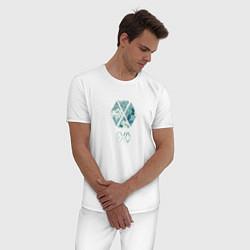 Пижама хлопковая мужская EXO цвета белый — фото 2