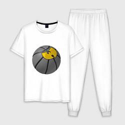 Пижама хлопковая мужская Wu-Tang Basketball цвета белый — фото 1