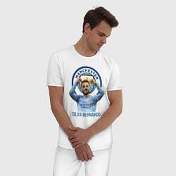Пижама хлопковая мужская Silva Bernardo Манчестер Сити цвета белый — фото 2