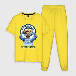 Пижама хлопковая мужская Silva Bernardo Манчестер Сити цвета желтый — фото 1