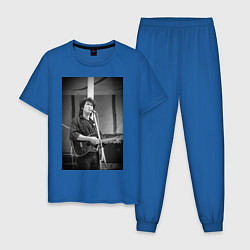 Пижама хлопковая мужская Цой кино цвета синий — фото 1