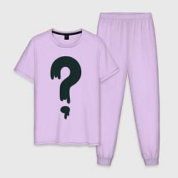 Пижама хлопковая мужская Любимая футболка Зуса цвета лаванда — фото 1