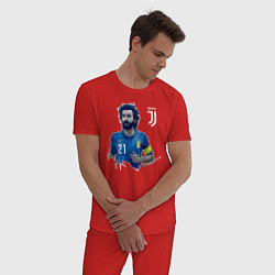 Пижама хлопковая мужская Andrea Pirlo цвета красный — фото 2