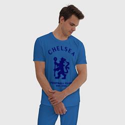 Пижама хлопковая мужская Chelsea Est. 1905 цвета синий — фото 2