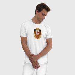 Пижама хлопковая мужская Нино800 цвета белый — фото 2