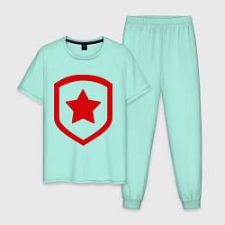 Пижама хлопковая мужская Gambit Symbol цвета мятный — фото 1