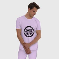 Пижама хлопковая мужская Barcelona FC цвета лаванда — фото 2