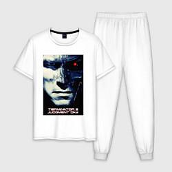 Пижама хлопковая мужская Arnold T-800 цвета белый — фото 1