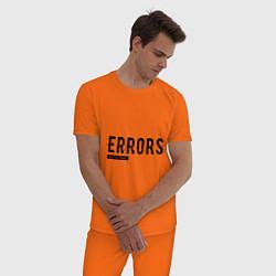 Пижама хлопковая мужская Watch Dogs: Error цвета оранжевый — фото 2
