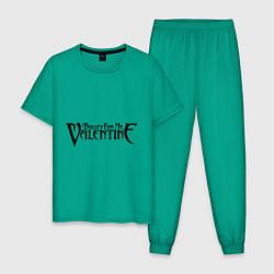 Пижама хлопковая мужская Bullet for my Valentine цвета зеленый — фото 1