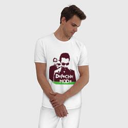 Пижама хлопковая мужская DM portrait цвета белый — фото 2
