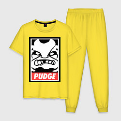 Пижама хлопковая мужская Pudge Poster цвета желтый — фото 1