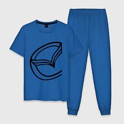 Пижама хлопковая мужская Мазда значок цвета синий — фото 1