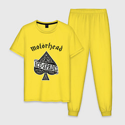 Пижама хлопковая мужская Motorhead: Ace of spades цвета желтый — фото 1