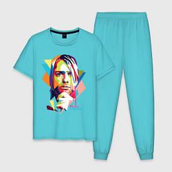Пижама хлопковая мужская Kurt Cobain: Colors цвета бирюзовый — фото 1