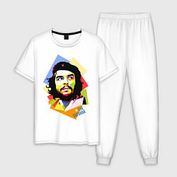 Пижама хлопковая мужская Che Guevara Art цвета белый — фото 1