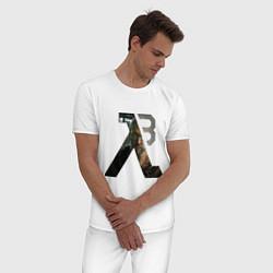 Пижама хлопковая мужская Half-Life 3: Freeman цвета белый — фото 2