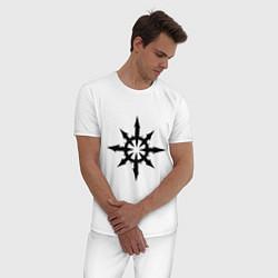 Пижама хлопковая мужская Герб Демонов цвета белый — фото 2