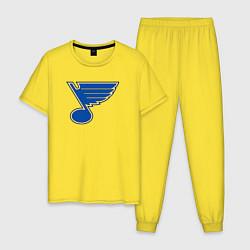 Пижама хлопковая мужская St Louis Blues цвета желтый — фото 1