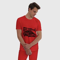 Пижама хлопковая мужская BMW E34 цвета красный — фото 2