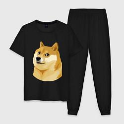 Пижама хлопковая мужская Doge цвета черный — фото 1