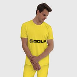Пижама хлопковая мужская Volkswagen Golf цвета желтый — фото 2
