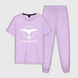 Пижама хлопковая мужская Tiesto цвета лаванда — фото 1