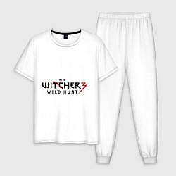 Пижама хлопковая мужская The Witcher 3 цвета белый — фото 1