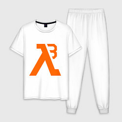 Пижама хлопковая мужская Half-Life 3: Orange цвета белый — фото 1