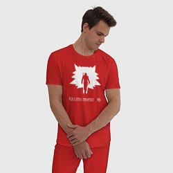 Пижама хлопковая мужская Killing monsters цвета красный — фото 2