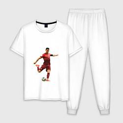 Пижама хлопковая мужская Ronaldo 07 цвета белый — фото 1