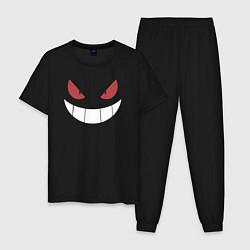 Пижама хлопковая мужская Gangar Face цвета черный — фото 1