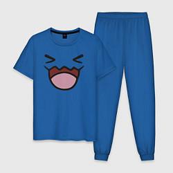 Пижама хлопковая мужская Wobbuffet цвета синий — фото 1