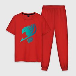 Пижама хлопковая мужская Грей цвета красный — фото 1