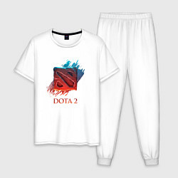 Пижама хлопковая мужская Dota 2 Shadows цвета белый — фото 1
