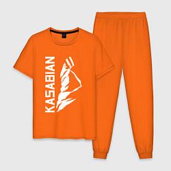 Пижама хлопковая мужская Kasabian цвета оранжевый — фото 1