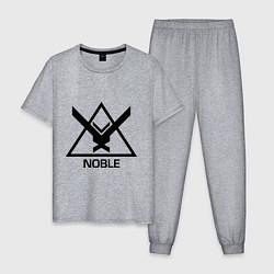 Пижама хлопковая мужская Noble Halo цвета меланж — фото 1