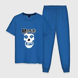 Пижама хлопковая мужская Отбросы цвета синий — фото 1