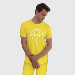 Пижама хлопковая мужская BMTH Symbol цвета желтый — фото 2